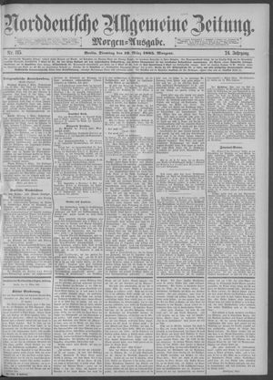 Norddeutsche allgemeine Zeitung vom 10.03.1885