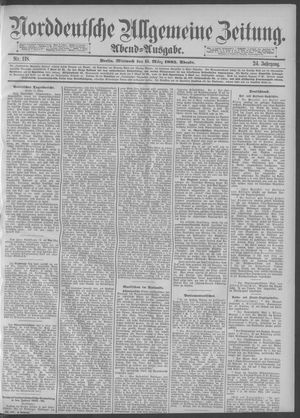 Norddeutsche allgemeine Zeitung vom 11.03.1885