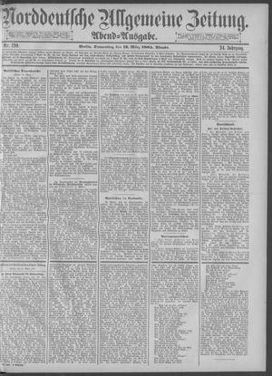 Norddeutsche allgemeine Zeitung vom 12.03.1885