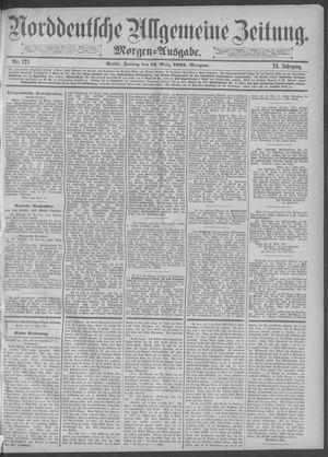 Norddeutsche allgemeine Zeitung vom 13.03.1885