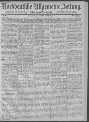 Norddeutsche allgemeine Zeitung vom 27.03.1885