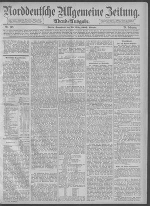 Norddeutsche allgemeine Zeitung vom 28.03.1885