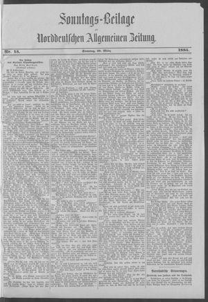 Norddeutsche allgemeine Zeitung vom 29.03.1885