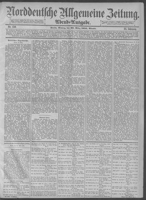 Norddeutsche allgemeine Zeitung on Mar 30, 1885
