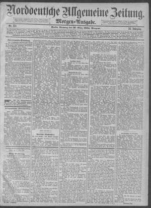 Norddeutsche allgemeine Zeitung vom 31.03.1885