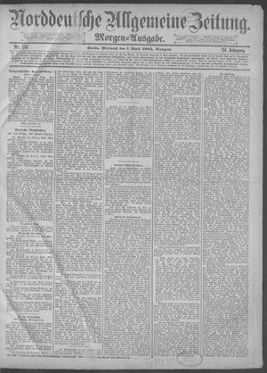 Norddeutsche allgemeine Zeitung vom 01.04.1885