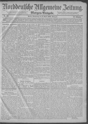 Norddeutsche allgemeine Zeitung vom 02.04.1885