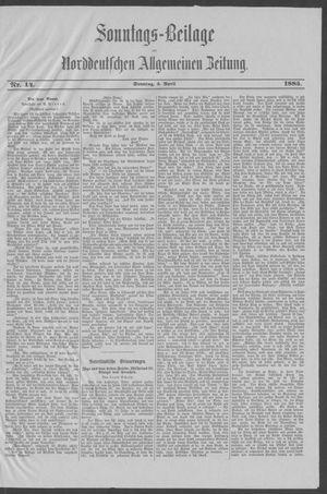 Norddeutsche allgemeine Zeitung vom 05.04.1885