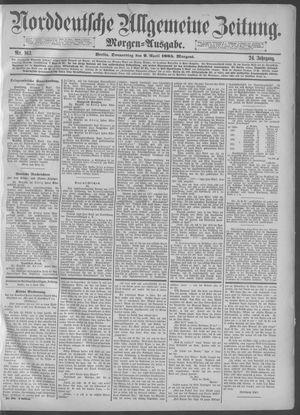 Norddeutsche allgemeine Zeitung vom 09.04.1885