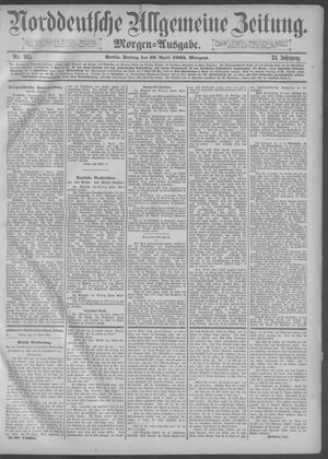 Norddeutsche allgemeine Zeitung vom 10.04.1885
