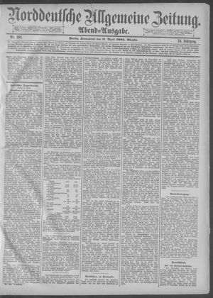 Norddeutsche allgemeine Zeitung vom 11.04.1885