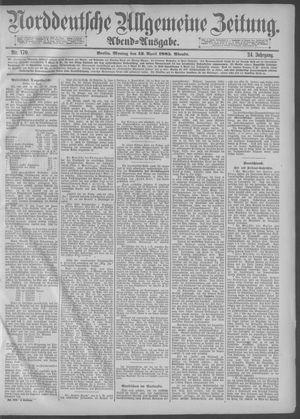 Norddeutsche allgemeine Zeitung vom 13.04.1885