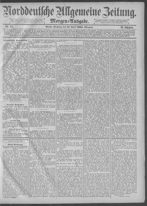 Norddeutsche allgemeine Zeitung on Apr 14, 1885
