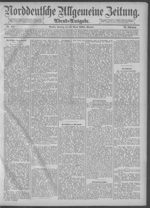 Norddeutsche allgemeine Zeitung vom 17.04.1885