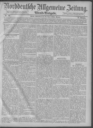 Norddeutsche allgemeine Zeitung on Apr 18, 1885