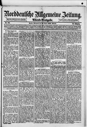 Norddeutsche allgemeine Zeitung vom 22.04.1885