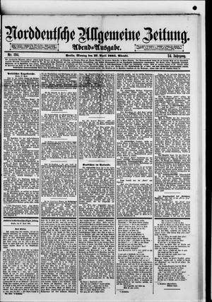 Norddeutsche allgemeine Zeitung vom 27.04.1885