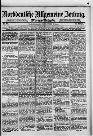 Norddeutsche allgemeine Zeitung vom 28.04.1885