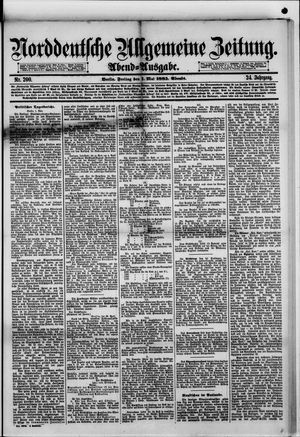 Norddeutsche allgemeine Zeitung vom 01.05.1885