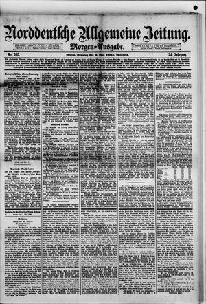 Norddeutsche allgemeine Zeitung on May 3, 1885