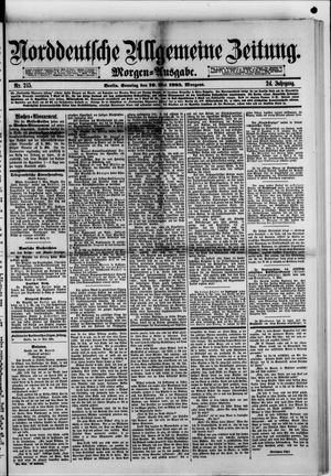 Norddeutsche allgemeine Zeitung vom 10.05.1885