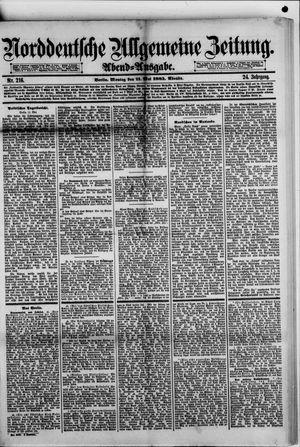 Norddeutsche allgemeine Zeitung vom 11.05.1885