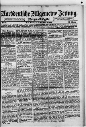 Norddeutsche allgemeine Zeitung vom 12.05.1885