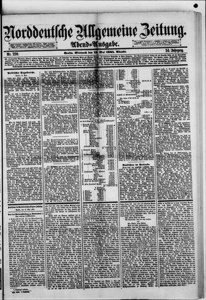 Norddeutsche allgemeine Zeitung vom 13.05.1885
