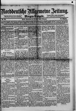 Norddeutsche allgemeine Zeitung vom 14.05.1885