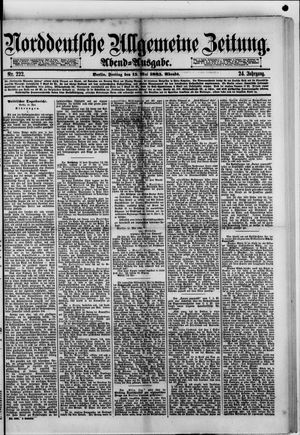 Norddeutsche allgemeine Zeitung on May 15, 1885