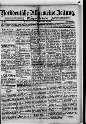 Norddeutsche allgemeine Zeitung vom 16.05.1885
