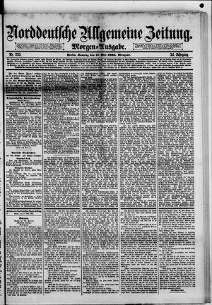 Norddeutsche allgemeine Zeitung vom 17.05.1885