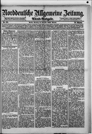 Norddeutsche allgemeine Zeitung vom 19.05.1885