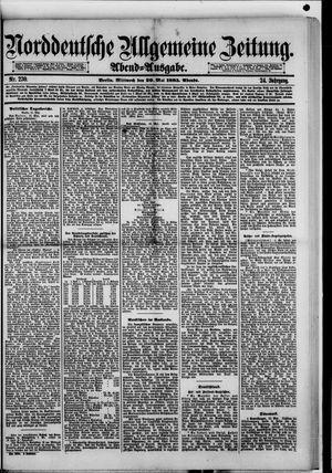 Norddeutsche allgemeine Zeitung vom 20.05.1885