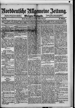 Norddeutsche allgemeine Zeitung vom 21.05.1885