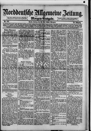 Norddeutsche allgemeine Zeitung vom 22.05.1885