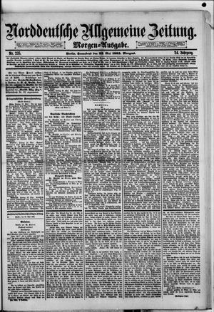Norddeutsche allgemeine Zeitung vom 23.05.1885