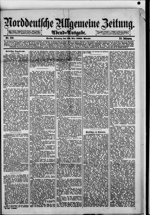 Norddeutsche allgemeine Zeitung vom 26.05.1885