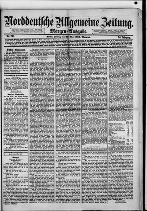 Norddeutsche allgemeine Zeitung vom 29.05.1885