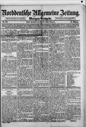 Norddeutsche allgemeine Zeitung vom 30.05.1885