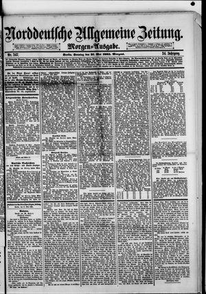 Norddeutsche allgemeine Zeitung vom 31.05.1885