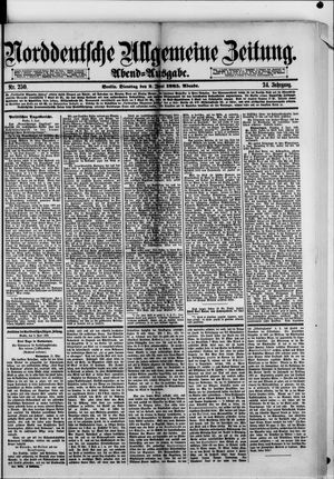 Norddeutsche allgemeine Zeitung vom 02.06.1885