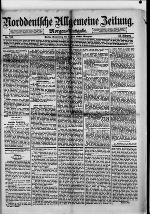 Norddeutsche allgemeine Zeitung vom 04.06.1885