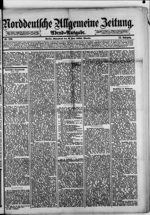 Norddeutsche allgemeine Zeitung vom 06.06.1885
