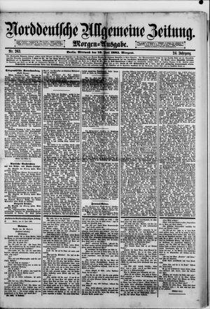 Norddeutsche allgemeine Zeitung vom 10.06.1885