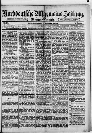 Norddeutsche allgemeine Zeitung vom 11.06.1885