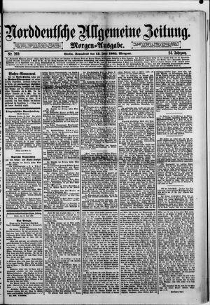 Norddeutsche allgemeine Zeitung vom 13.06.1885