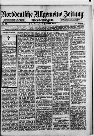 Norddeutsche allgemeine Zeitung vom 15.06.1885