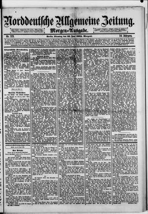 Norddeutsche allgemeine Zeitung vom 16.06.1885