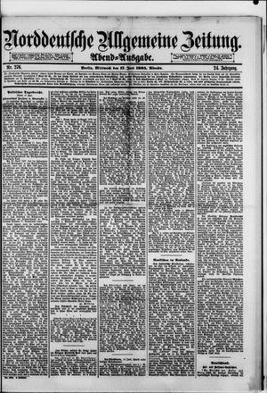 Norddeutsche allgemeine Zeitung vom 17.06.1885